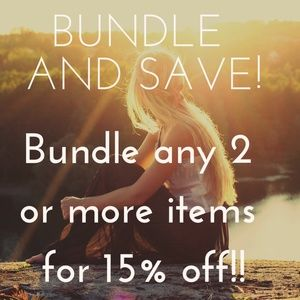 Bundle 2 items for 15% off!